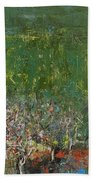 Blossoming Tree In The Garden Beach Towel