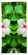 Blowing In The Breeze Mirror Image Beach Towel