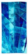 Blue Abstract Art - Paths - By Sharon Cummings Beach Towel