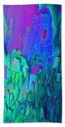 Blue Abstract Trunk Beach Towel