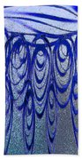 Blue And Black Swirl Abstract Beach Towel