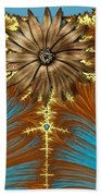 Blue And Brown Synergy Beach Towel