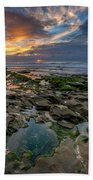 Blue And Gold Tidepools Beach Towel