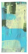 Blue And Green Abstract Beach Towel