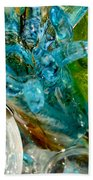 Blue And Green Glass Abstract Beach Towel