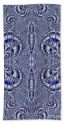 Blue And Silver 2 Beach Towel
