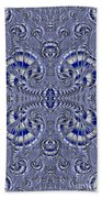 Blue And Silver 3 Beach Towel