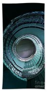 Blue And Silver Spiral Stairs Beach Towel