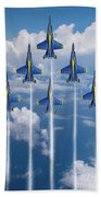 Blue Angels Beach Towel by J Biggadike