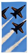 Blue Angels Overhead Beach Towel