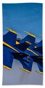 Blue Angels Single File Beach Towel