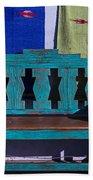 Blue Bench Beach Towel