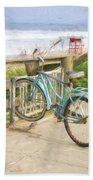 Blue Bike Beach Towel