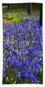 Blue Blue Bells Beach Towel