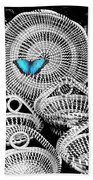 Blue Butterfly Charleston Beach Towel