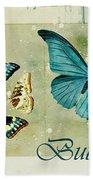Blue Butterfly - S55c01 Beach Towel