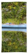 Blue Canoe Beach Towel