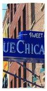 Blue Chicago Club Beach Towel