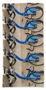 Blue City Bikes Beach Towel