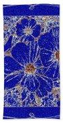 Blue Cosmos Abstract Beach Towel