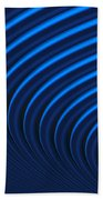 Blue Curves Beach Towel