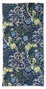 Blue Daisies Design Beach Towel by William Morris