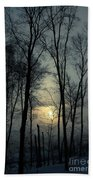Blue Daybreak Beach Towel