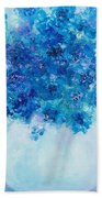 Blue Delphiniums Beach Sheet