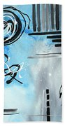 Blue Divinity By Madart Beach Towel