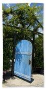 Blue Door To Childrens Garden Huntington Library Beach Towel