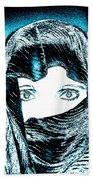 Blue Eye Lady Beach Towel