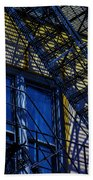 Blue Fire Escape Beach Towel