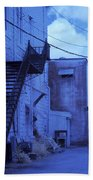 Blue Fire Escape Usa Near Infrared Beach Towel