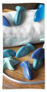 Blue Fish Mini Soap Beach Towel