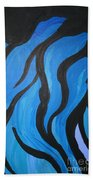 Blue Flames Of Healing Beach Towel