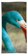 Blue Flamingo Beach Sheet