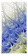 Blue Folium Beach Towel