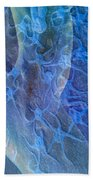 Blue Fossil Beach Towel