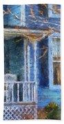 Blue Front Porch Photo Art 01 Beach Towel