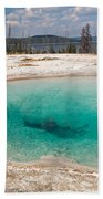 Blue Funnel Spring In West Thumb Geyser Basin Beach Towel