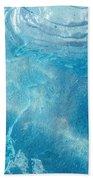 Blue Glacier Ice Beach Towel