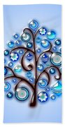 Blue Glass Ornaments Beach Towel
