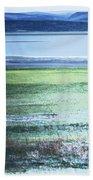 Blue Green Landscape Beach Towel