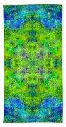 Blue Green Mandala Beach Towel