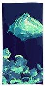 Blue Grouper Beach Towel