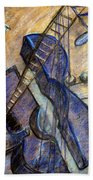 Blue Guitar - About Pablo Picasso Beach Towel
