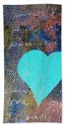 Blue Heart  Beach Towel