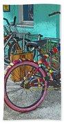 Blue Heaven Key West Bicycles Beach Towel
