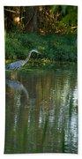 Blue Heron Magic Beach Towel