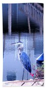 Blue Heron Reflections Beach Sheet